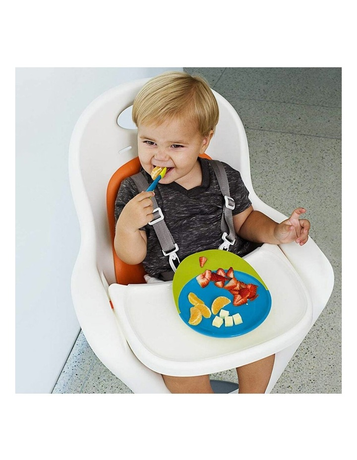 Baby/Toddler 9m  Feeding Catch Food Catcher Plate w Suction Base Blue/Green image 2