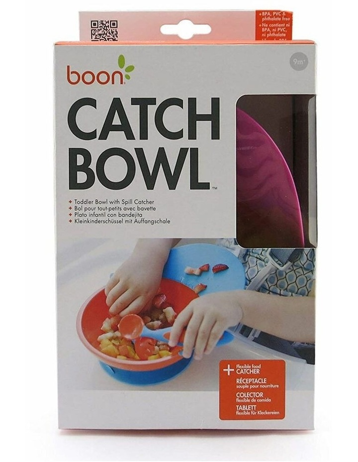 Catch Baby Toddler Feeding Bowl Food Spill Catcher w/ Suction Pink/PP 9m  image 3