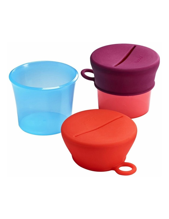 Snug Baby/Toddler Snack Container Food Silicone Lid w/ Cup Storage 9m  Pink image 1