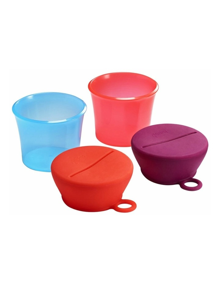 Snug Baby/Toddler Snack Container Food Silicone Lid w/ Cup Storage 9m  Pink image 3