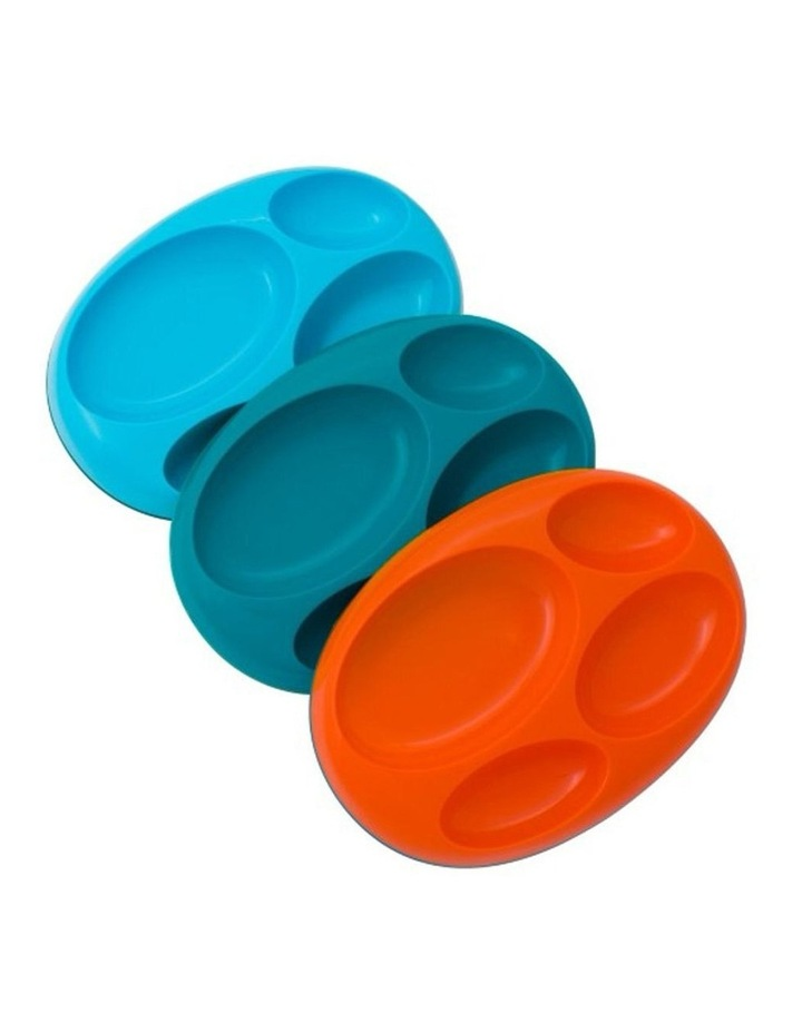 3pk Platter Large Divided Plate for Kids/Baby/Toddler Food Dish Tray image 1