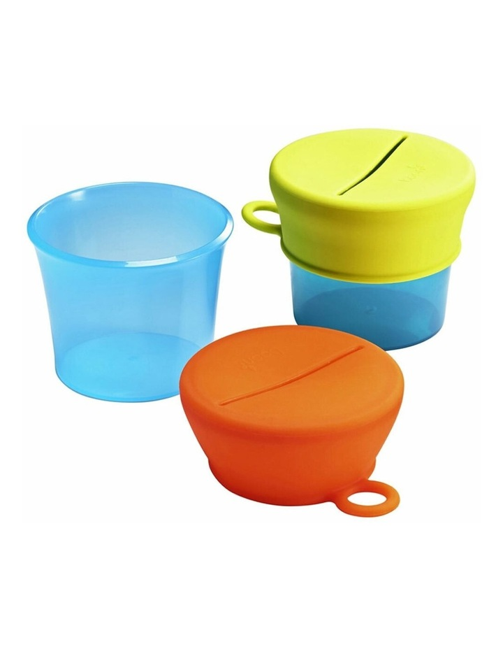 Snug Baby/Toddler Snack Container Food Silicone Lid w/ Cup Storage 9m  Blue image 1