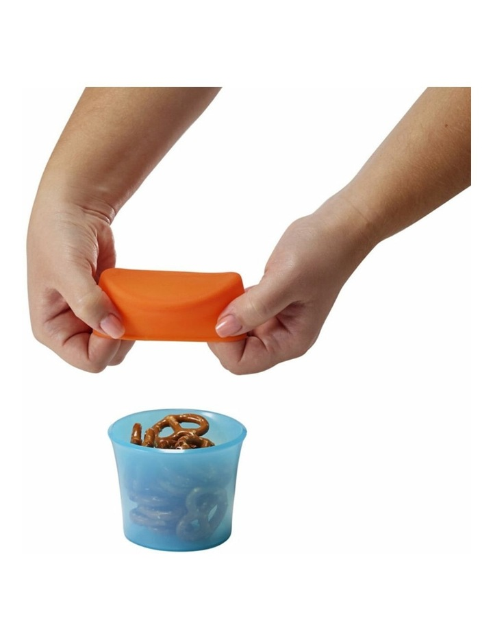 Snug Baby/Toddler Snack Container Food Silicone Lid w/ Cup Storage 9m  Blue image 2