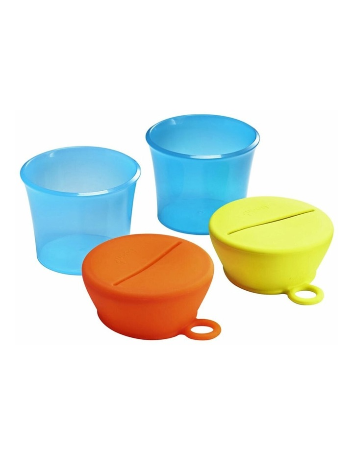 Snug Baby/Toddler Snack Container Food Silicone Lid w/ Cup Storage 9m  Blue image 3