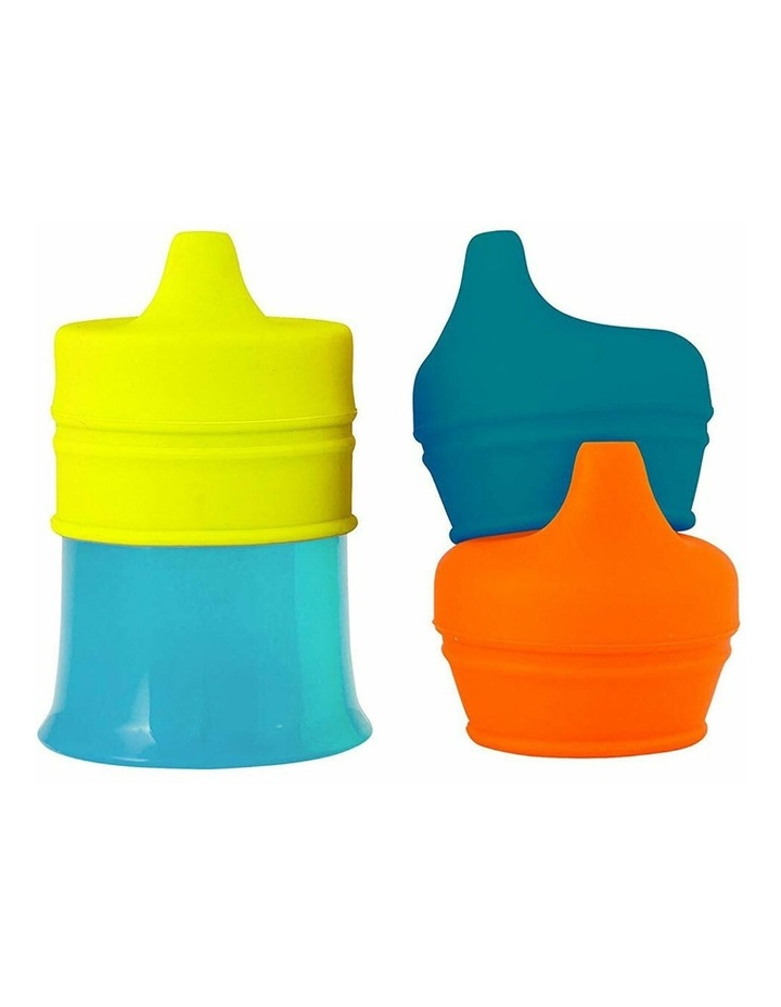 Snug Spout Baby/Boys/9m  Toddler Drink Container Silicone Lids w/ Cup Blue image 1
