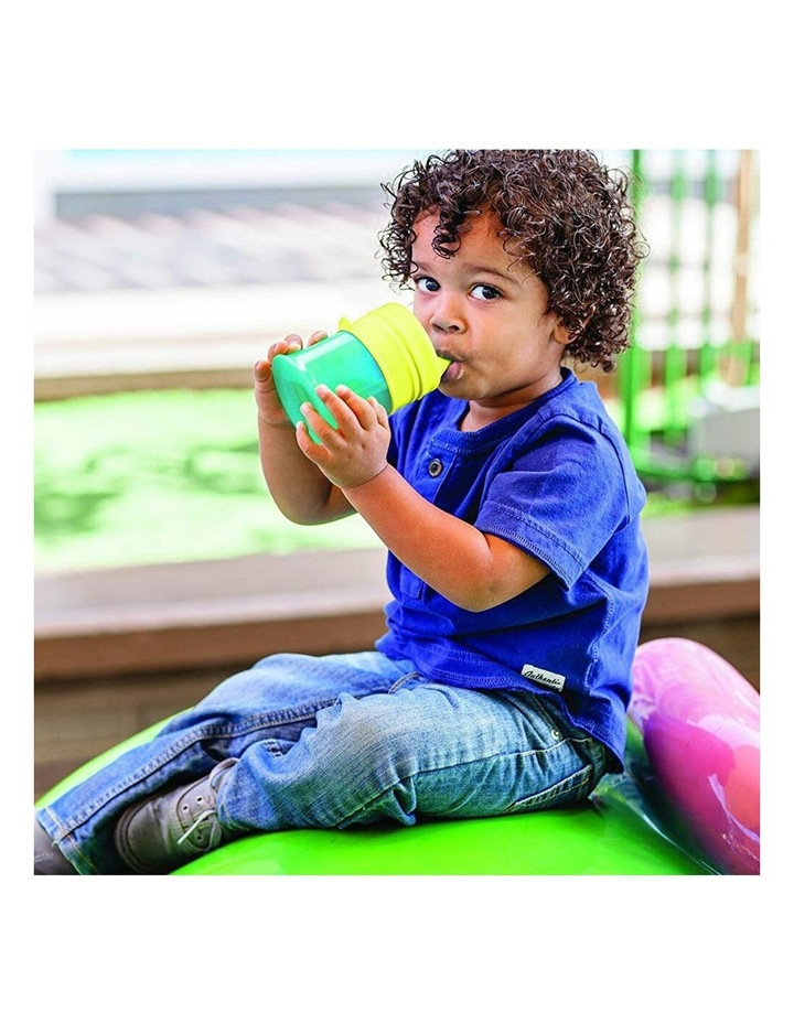 Snug Spout Baby/Boys/9m  Toddler Drink Container Silicone Lids w/ Cup Blue image 4