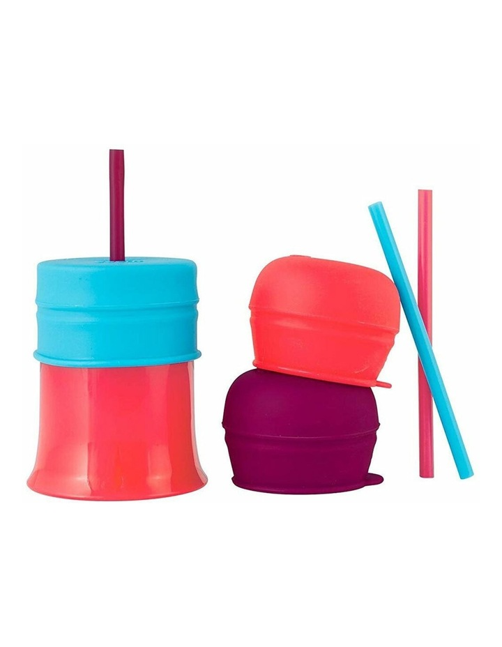 Snug Straw Silicone Lids Baby/Infant/12m  Girl Water/Drinks w/ Cup - Pink image 1