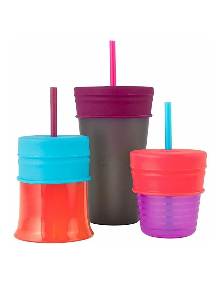 Snug Straw Silicone Lids Baby/Infant/12m  Girl Water/Drinks w/ Cup - Pink image 2