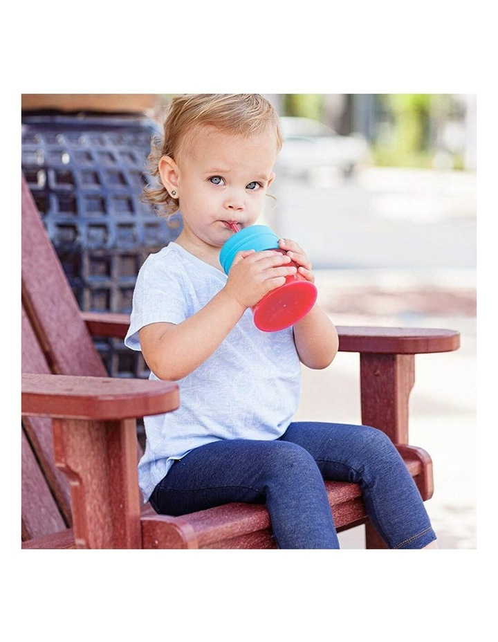 Snug Straw Silicone Lids Baby/Infant/12m  Girl Water/Drinks w/ Cup - Pink image 3