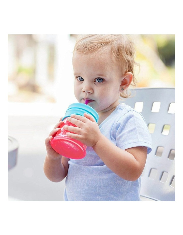 Snug Straw Silicone Lids Baby/Infant/12m  Girl Water/Drinks w/ Cup - Pink image 4