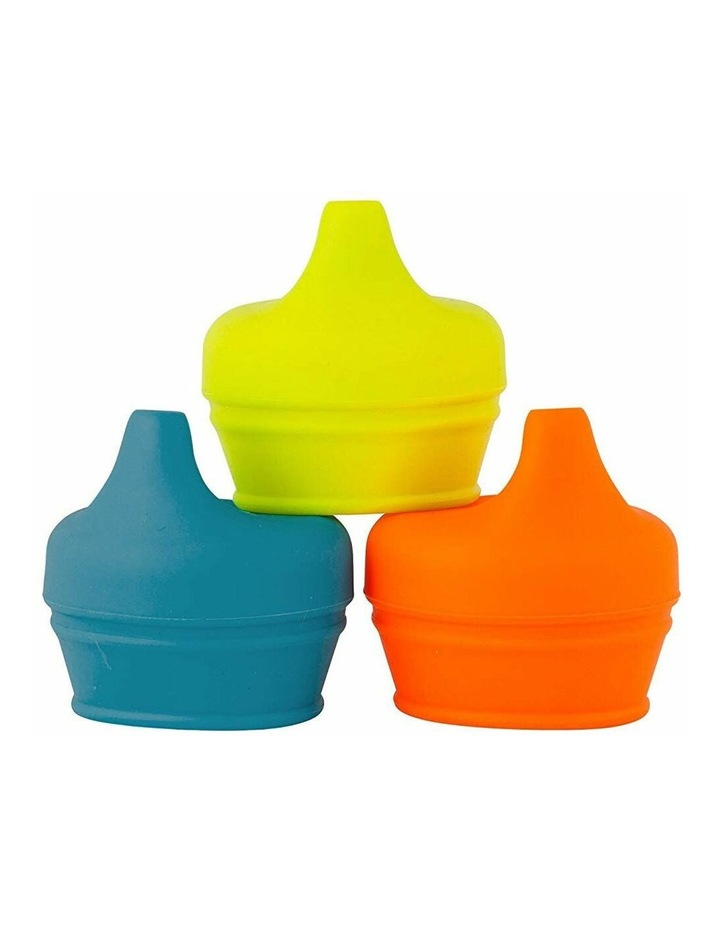 Snug Spout Baby/Boy/9m /Infant Cup Universal Cover/Lid - BL/OR/YL image 1