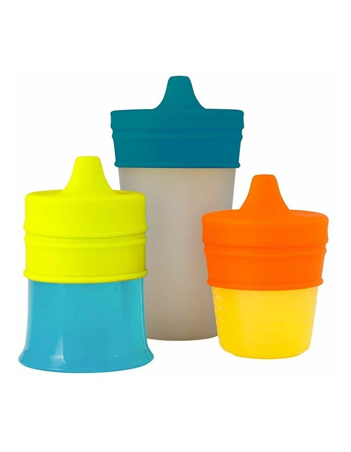 Snug Spout Baby/Boy/9m /Infant Cup Universal Cover/Lid - BL/OR/YL image 4