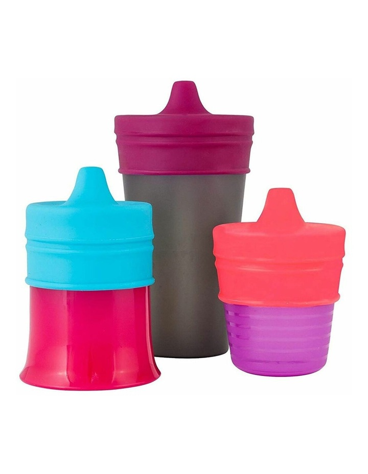 3pc Snug Spout Baby/Girl/9m /Infant Cup Universal Cover/Lid Blue/Pink/PP image 2