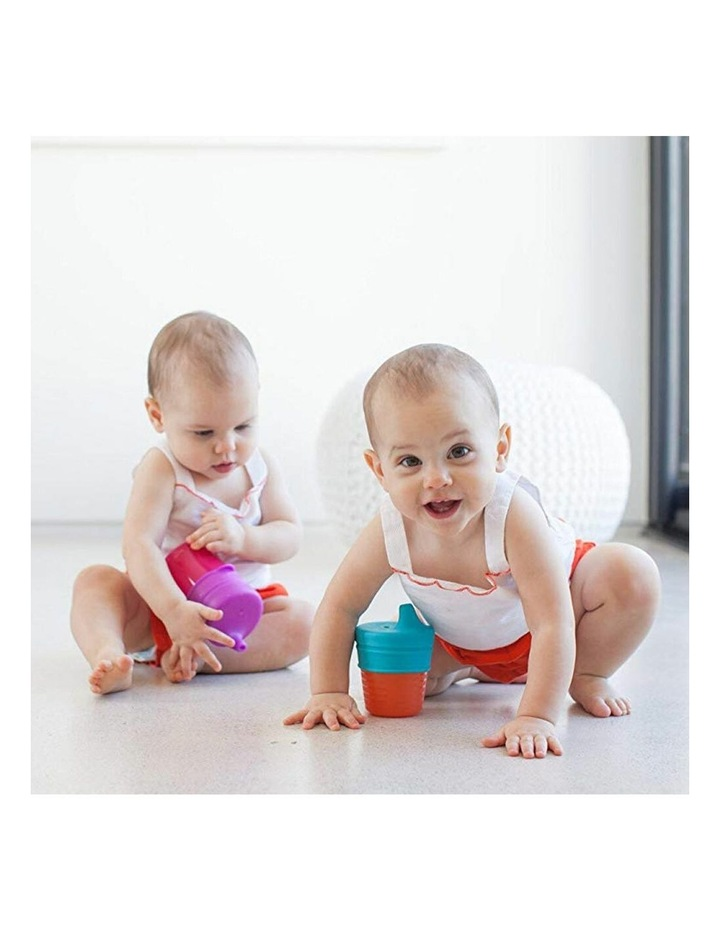 3pc Snug Spout Baby/Girl/9m /Infant Cup Universal Cover/Lid Blue/Pink/PP image 5