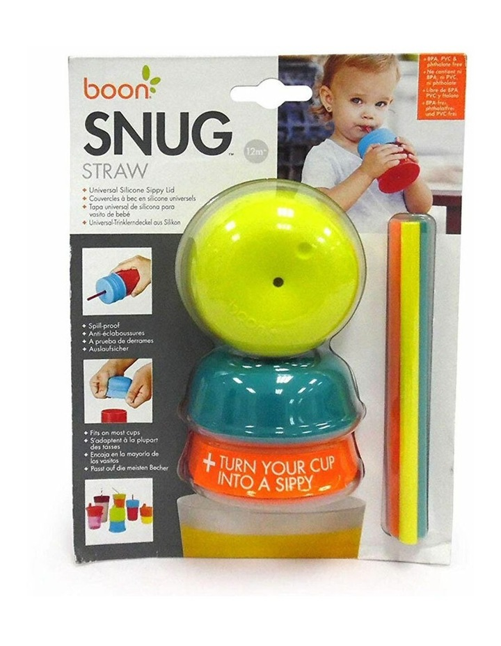 3pc Snug Straw Baby/Boy/12m /Infant Universal Cup Cover/Lid BL/OR/YL image 5