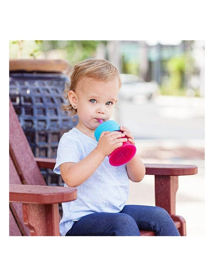 3pc Snug Straw Baby/Girl/12m /Infant Universal Cup Cover/Lid Pink/Blue/PP image 3