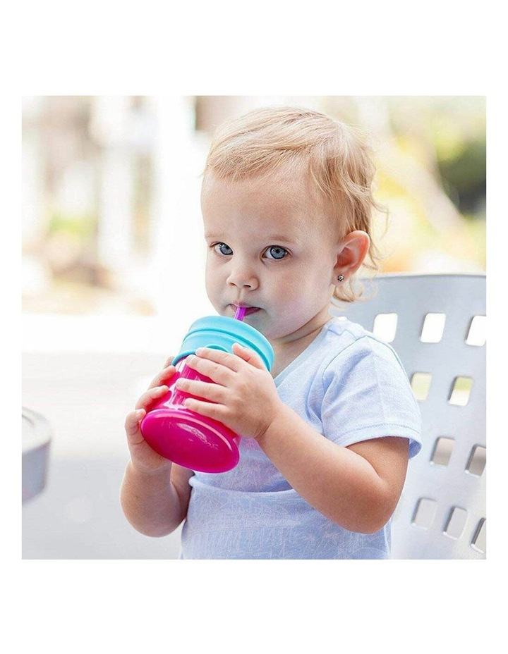 3pc Snug Straw Baby/Girl/12m /Infant Universal Cup Cover/Lid Pink/Blue/PP image 4