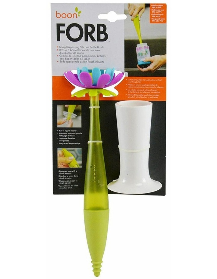 Forb Soap Dispensing Silicone Baby/Infant Bottle Cleaning Brush - Green image 7
