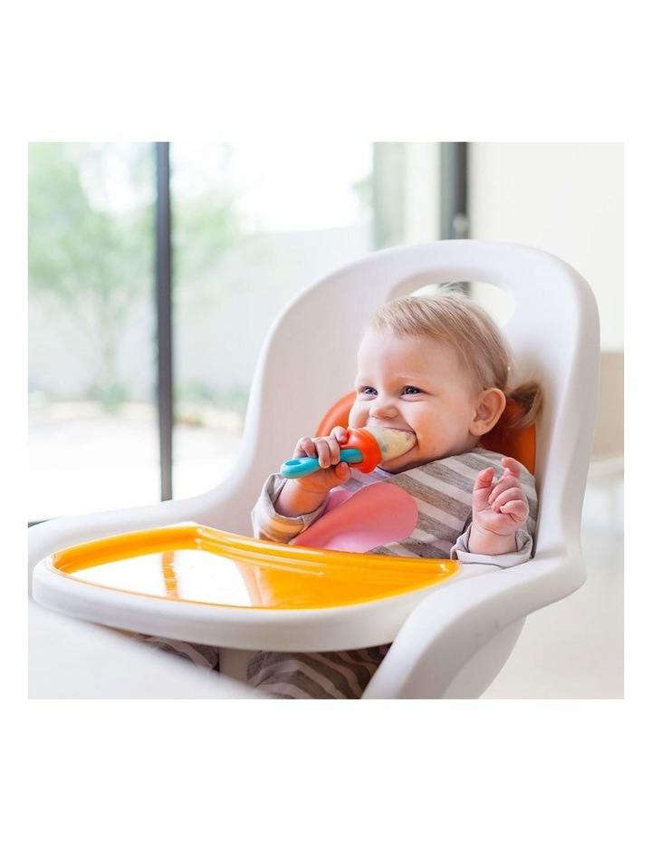 Pulp Silicone Feeder for Baby/Infant Feeding/Weaning/Teething Blue/Orange image 4