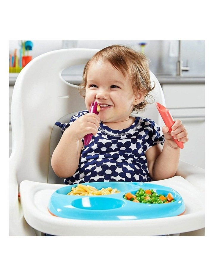 2pc JAB Silicone Food Utensils Feeding Feeder 1y  Baby/Toddler Coral/PP image 2