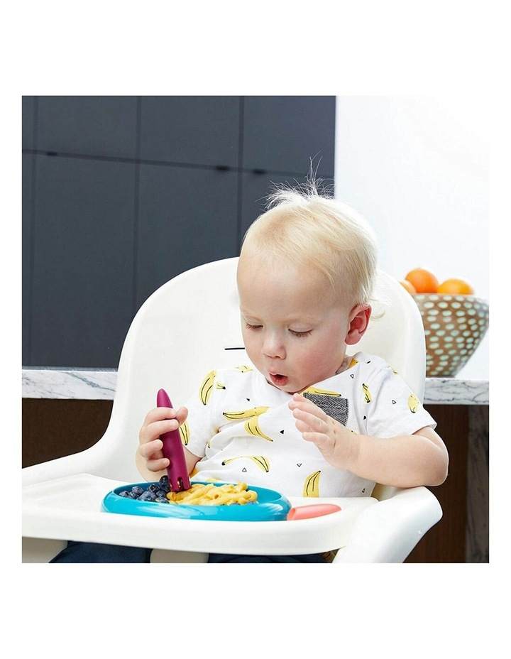 2pc JAB Silicone Food Utensils Feeding Feeder 1y  Baby/Toddler Coral/PP image 5