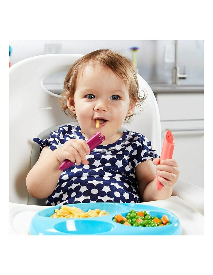 2pc JAB Silicone Food Utensils Feeding Feeder 1y  Baby/Toddler Coral/PP image 6