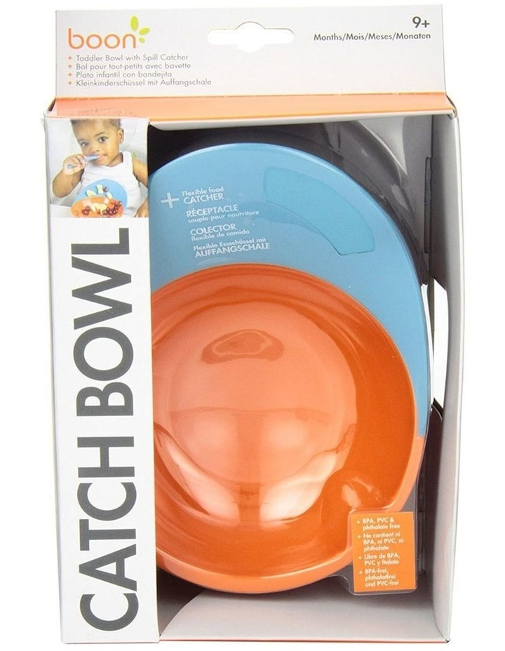 Blue/Orange Cath Bowl w/ Spill Cather for Baby/Toddler Food Mat/Table/Tray image 5