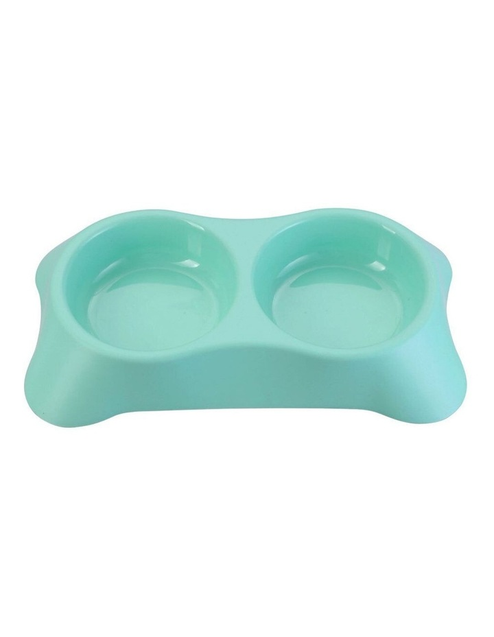 31cm Pets/Dogs Round Essentials Dual Bowl/Dishes/Feeders Assorted image 2
