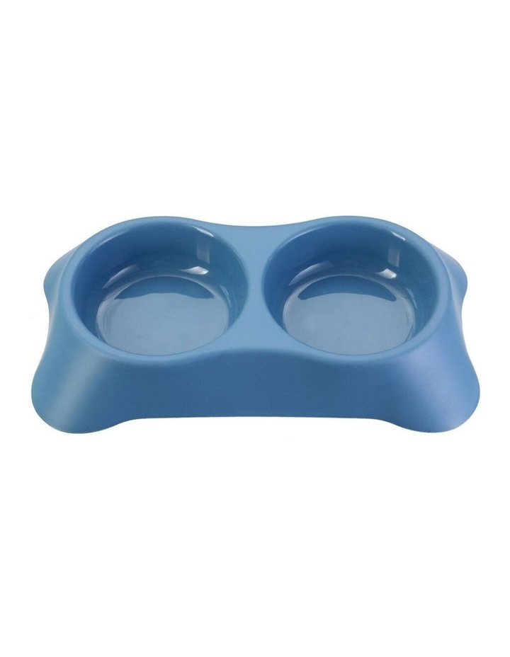 31cm Pets/Dogs Round Essentials Dual Bowl/Dishes/Feeders Assorted image 3