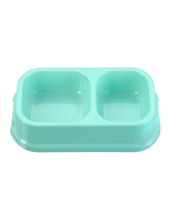 24.5cm Pets/Dogs Square Essentials Dual Bowl/Dishes/Feeders Assort. image 2