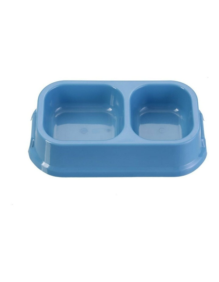 24.5cm Pets/Dogs Square Essentials Dual Bowl/Dishes/Feeders Assort. image 3
