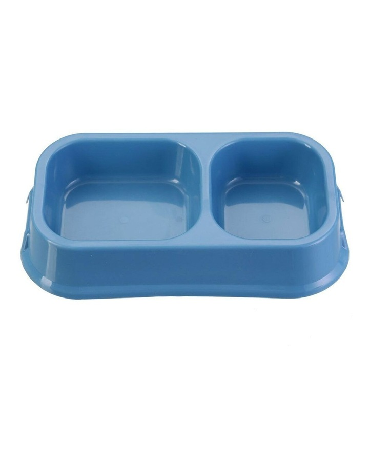 32cm Pets/Dogs Square Essentials Dual Bowl/Dishes/Feeders Assorted image 3
