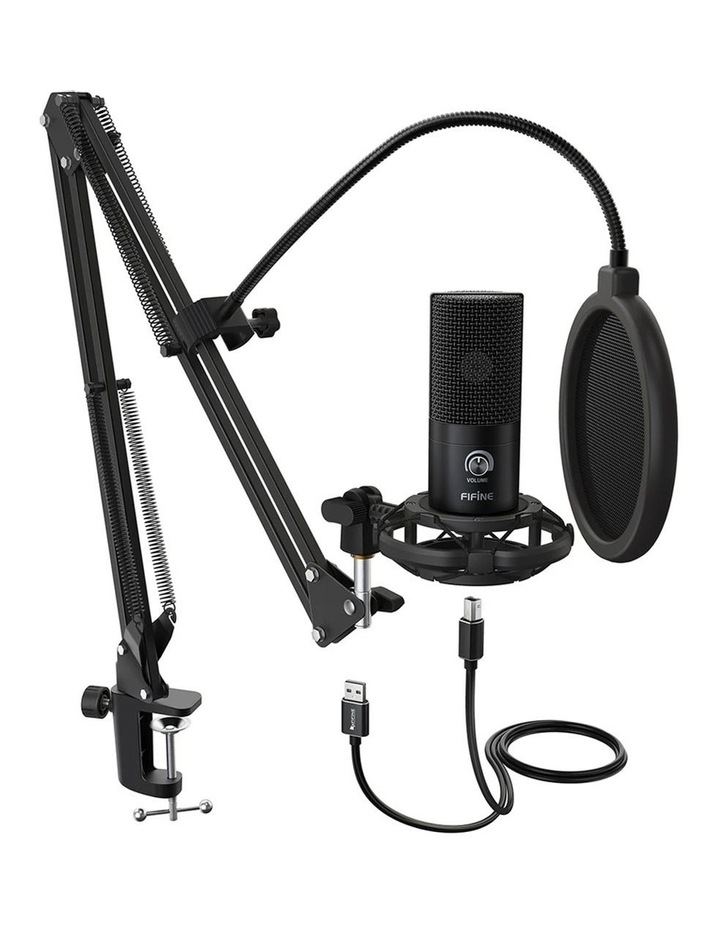 Fifine Technology USB Condenser Broadcast/Podcast Microphone w/Filter/Desk Stand image 1