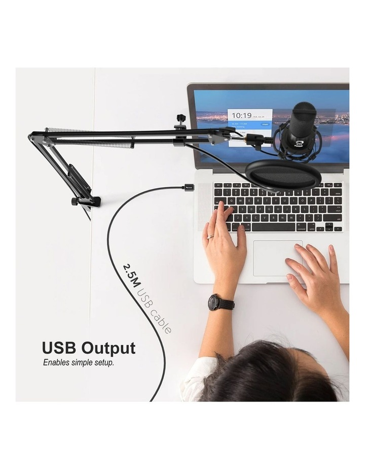 Fifine Technology USB Condenser Broadcast/Podcast Microphone w/Filter/Desk Stand image 2