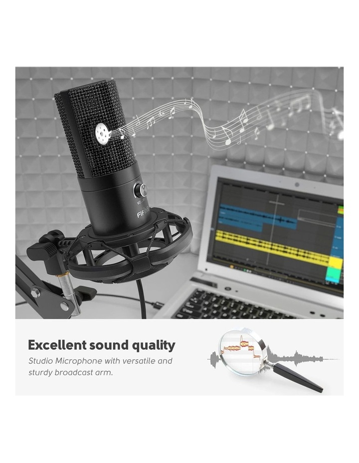 Fifine Technology USB Condenser Broadcast/Podcast Microphone w/Filter/Desk Stand image 5