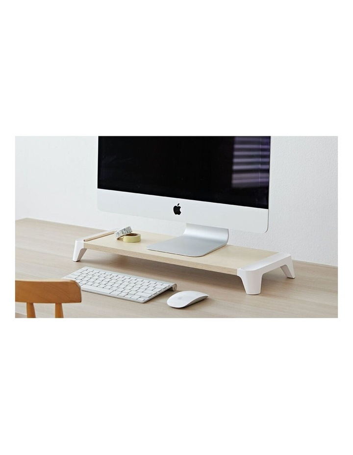 Pout Eyes 5 White Wooden Single Monitor Stand image 2