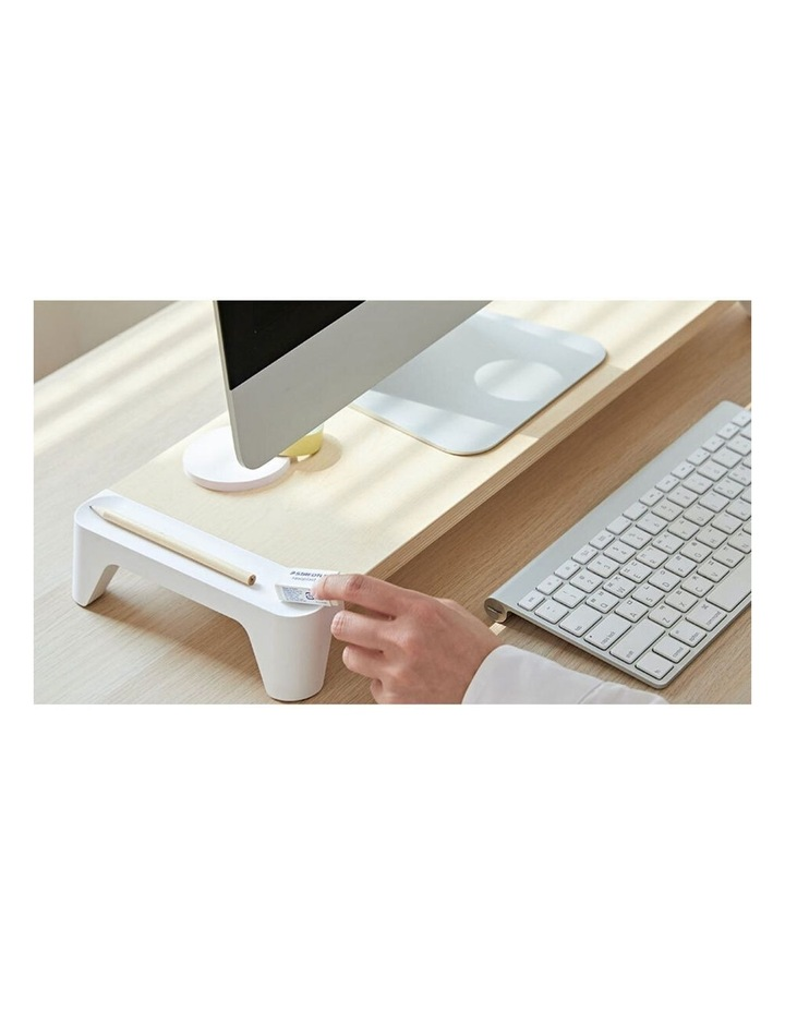 Pout Eyes 5 White Wooden Single Monitor Stand image 5