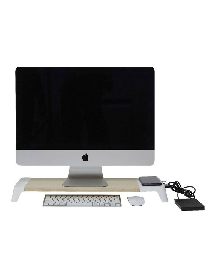 Pout Eyes 8 White Monitor Stand Hub Station image 1