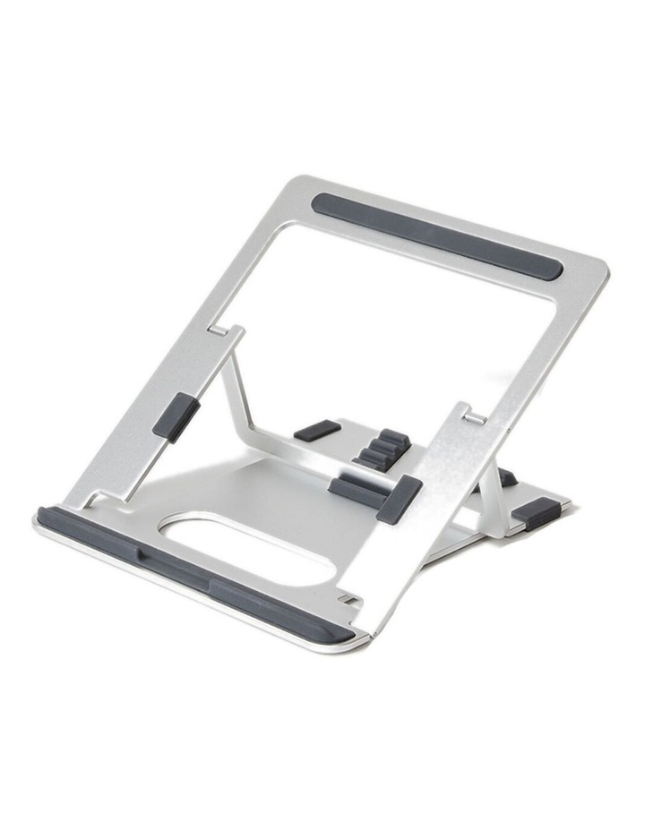"""Pout Eyes 3 Angle Aluminium Universal 10-17"""" Adjustable Laptop Stand/Riser Silver image 1"""