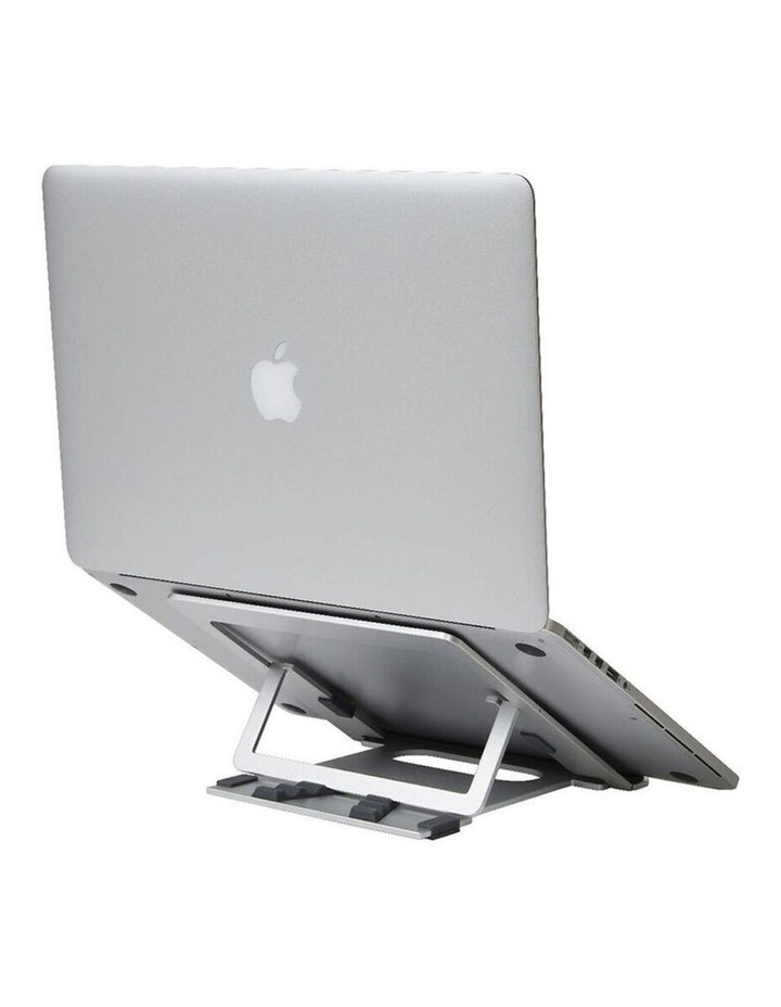 """Pout Eyes 3 Angle Aluminium Universal 10-17"""" Adjustable Laptop Stand/Riser Silver image 6"""
