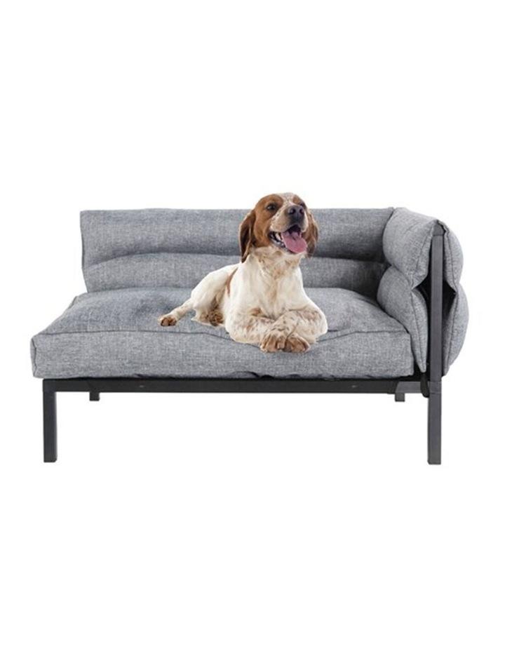 64.5cm Elevated Sofa Pet/Dog Medium Bed w/ Removable Cushion Grey image 5