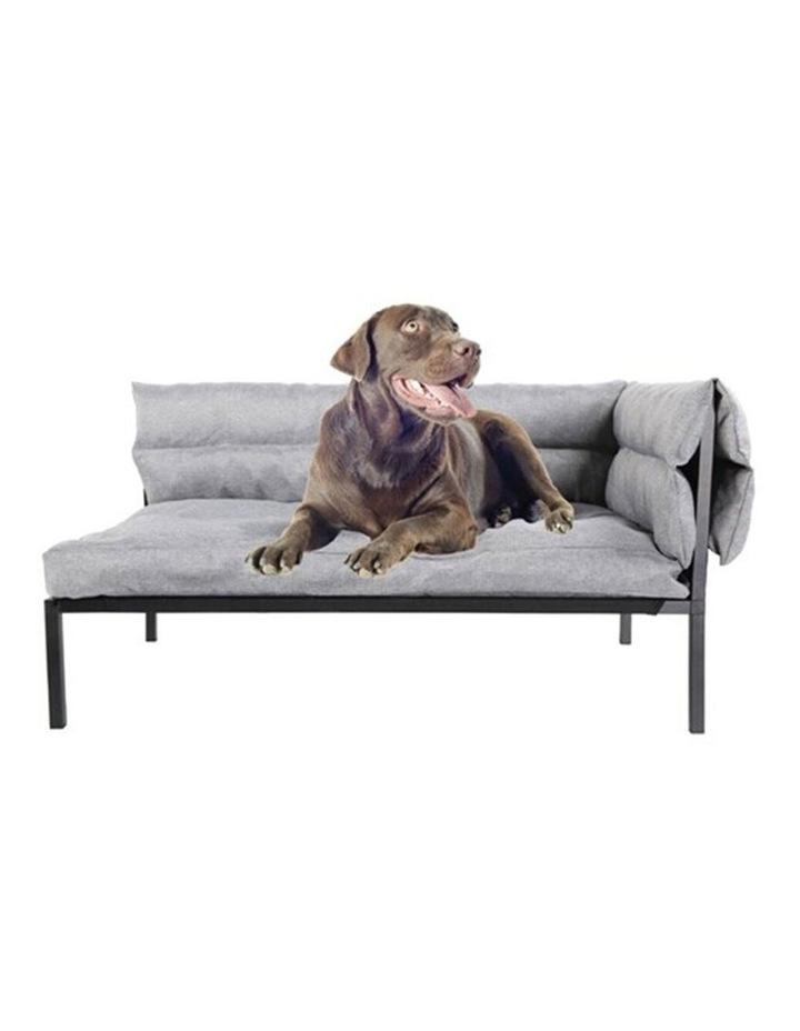 93.5cm Elevated Sofa Pet/Dog Large Bed w/ Removable Cushion Grey image 3