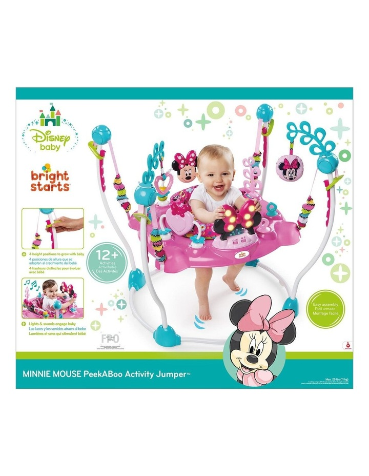 Bright Stars Disney Minnie Mouse Jumper withSounds/Lights/Toys/Tray for Baby image 3