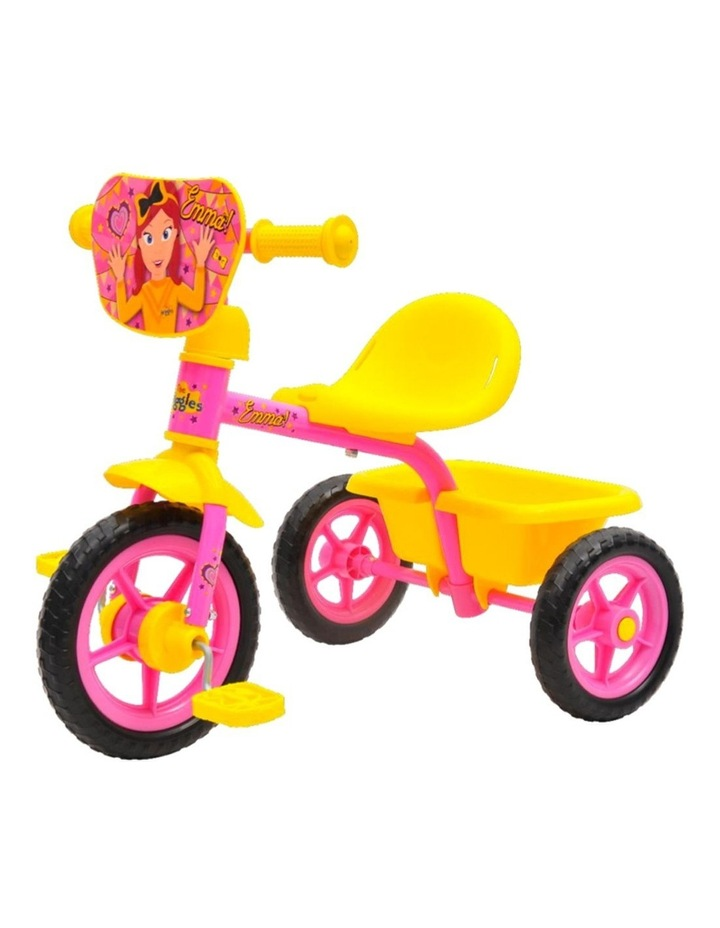 The Wiggles Emma Pedal Bike Trike Ride On Toy Bucket Kids/Toddler 3y  Pink/YLW image 1