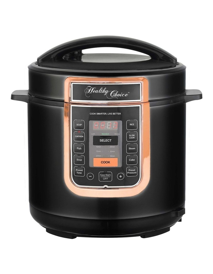 Healthy Choice 6L Electric Slow/Pressure Cooker 1000W Digital/Non Stick Pot RGLD image 1