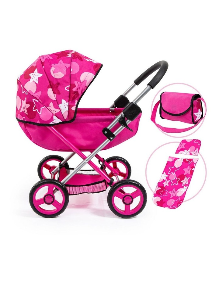 Bayer Cosy 59cm Pram/Stroller for 46cm Dolls Cerisse With Star Hood Kids Toy image 2
