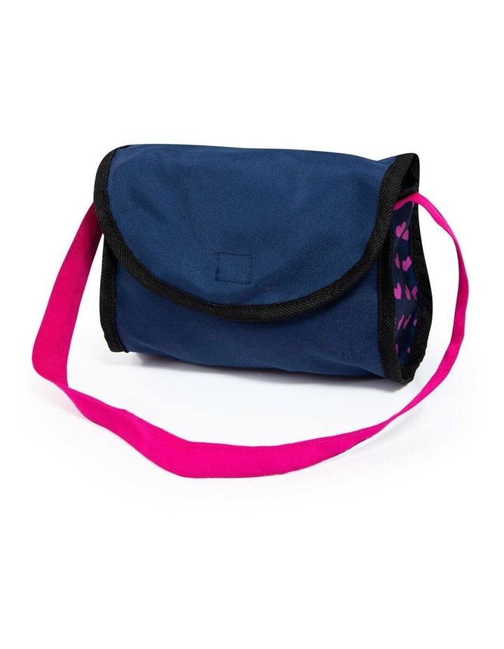 Bayer Cosy 59cm Pram/Stroller Kids Toy for 46cm Dolls Dark Blue With  Pink Hearts image 5