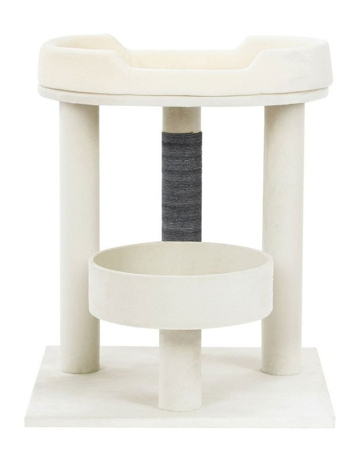 58.5cm Catsby Kew Perch/Bed Cat/Kitten/Pets Scratching Post Sand image 2