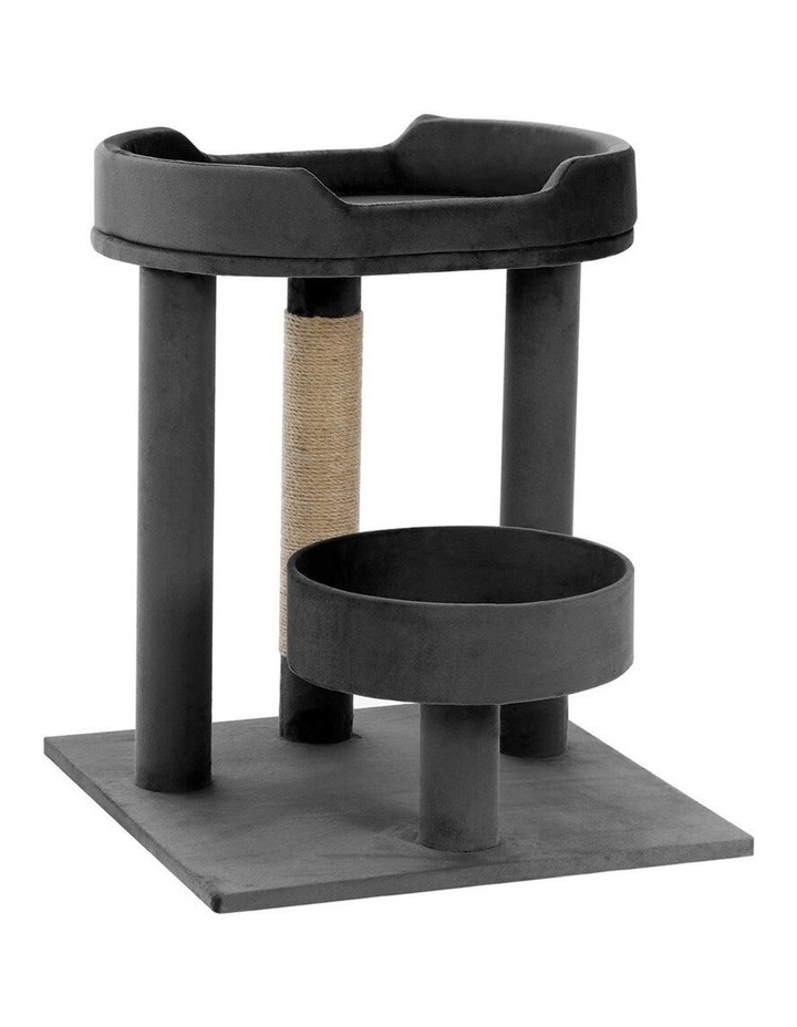 58.5cm Catsby Kew Perch/Bed Cat/Kitten Scratching Post Charcoal image 1