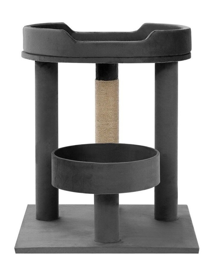 58.5cm Catsby Kew Perch/Bed Cat/Kitten Scratching Post Charcoal image 2